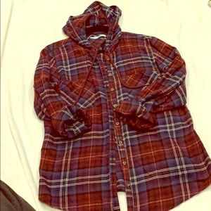 Maurices hooded flannel